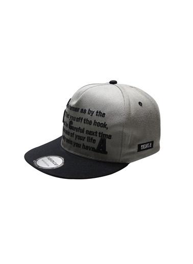 Laslusa Yazili Hip Hop Snapback Şapka Gri